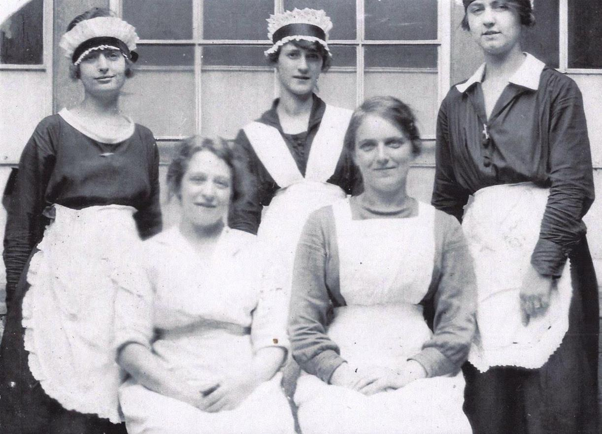 Maids at the hotel, probably about 1930.