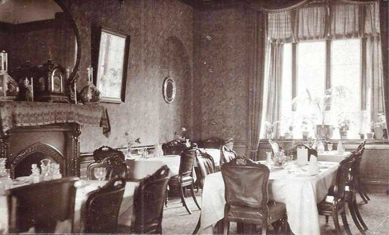 The dining room over the carriage entrance