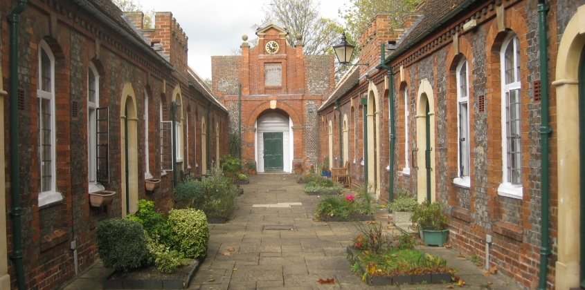 Tomkins Almshouses, internal courtyard