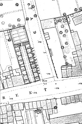 Extract from 1st edition OS map at 1:500