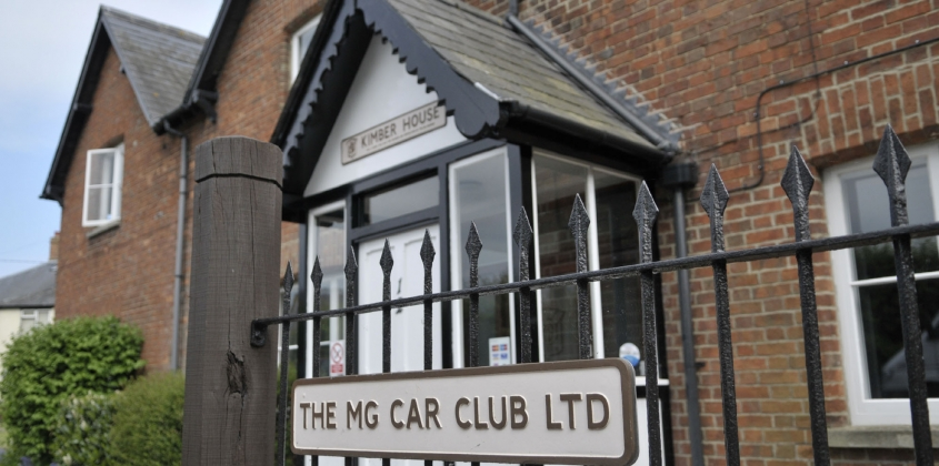 Kimber House, the home of the MG Car Club