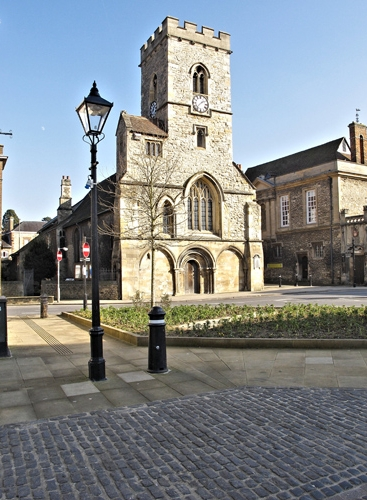 St Nicolas' Church from the Market Place