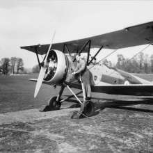 An Avro Tutor of the University Air Squadron at Abingdon Airfield before WWII