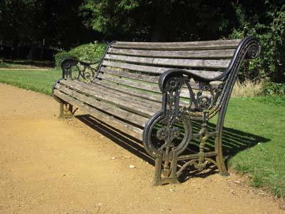 Figure26Bench in Abbey Gardens (© David Clark, 2020)