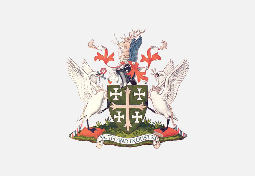 Abingdon Town Council crest with grey background