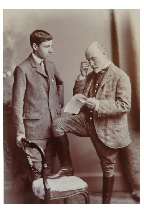 Archie Kirkman Loyd with his son Geoff, in about 1908. The boy would be killed in the First World War.