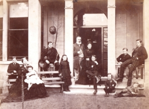 The Challenor family in about 1870 at home at The Firs in Marcham Road.