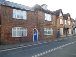 67 Stert Street, Abingdon, where Challenor & Son had their offices for nearly 100 years. It is now (2021) part of the premises of the Abingdon Surgery and the whole terrace is Grade ll listed (List Entry Number: 1199868). © Ruth Weinberg 2021